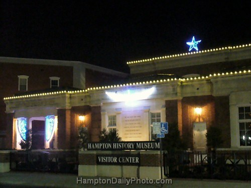 Illuminated Hampton History Museum - 400th Anniversary of First Christmas