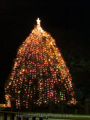 Hampton University Christmas Tree off of Settlers Landing Road