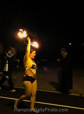 Fire Baton Dancer