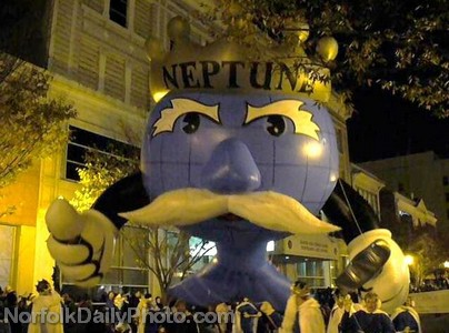 King Neptune Helium Balloon - Norfolk Grand Illumination Parade