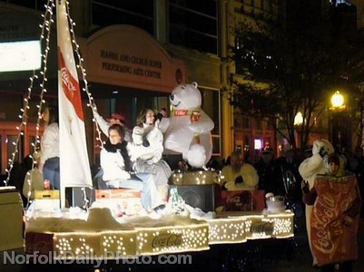 Coca-Cola Float - Norfolk Grand Illumination Parade