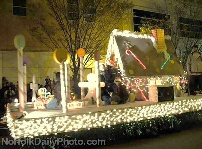 Gingerbread House Float - Norfolk Grand Illumination Parade