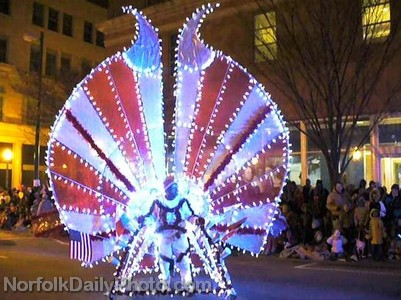 Illuminated Peacock - Norfolk Grand Illumination Parade
