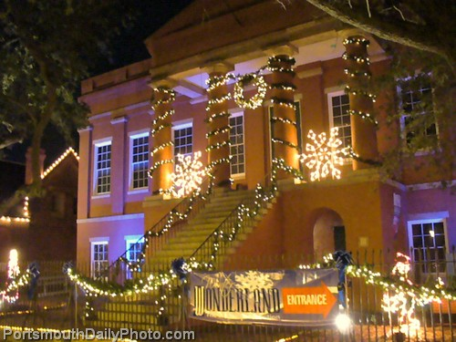 Courthouse Galleries Museum Decorated for Holiday Season - Olde Town Portsmouth, Virgina