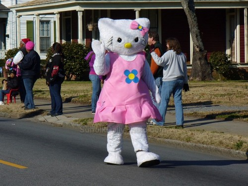 Hello Kitty at Downtown Suffolk Holiday Parade