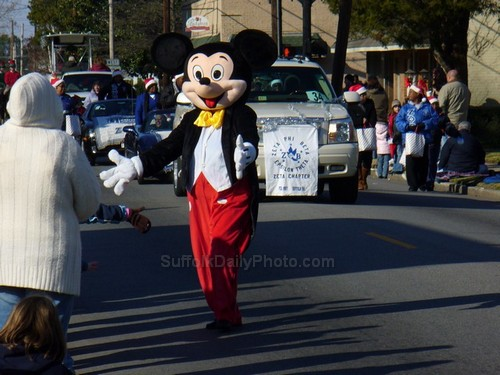 Mickey Mouse at Downtown Suffolk Holiday Parade