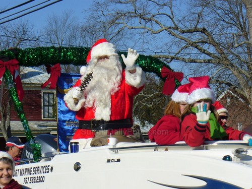 Santa Claus at Downtown Suffolk Holiday Parade