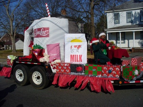 Sara Lee Company Float at Downtown Suffolk Holiday Parade